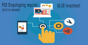 Print-On-Demand Dropshipping companies require no up front costs.